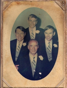 Gluppe brothers with father