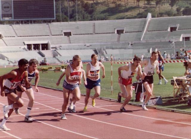 Geroge at World Veterans Games 1985