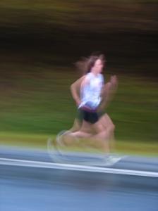 nancy running on track