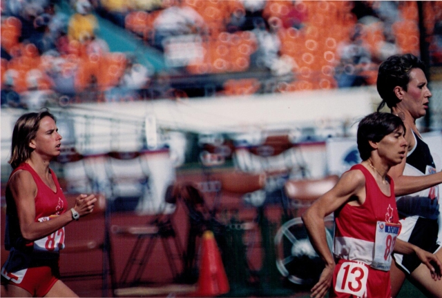 Running in the 1988 Olympics