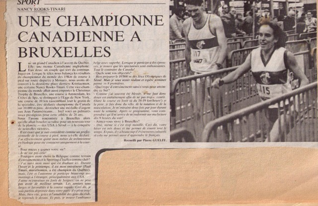 old newspaper article about Brussels race