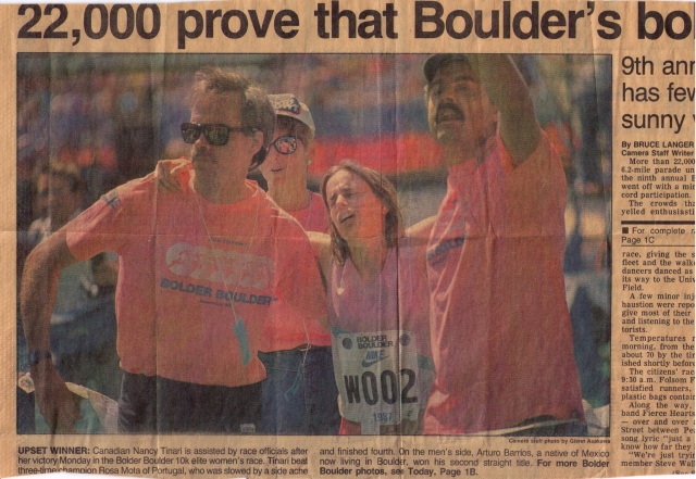 Finish chute of Bolder Boulder 10K