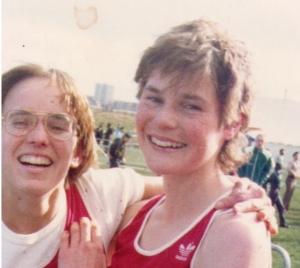 close-up of Nancy Tinari and Alison Wiley