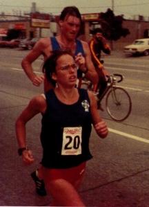 Paul & Nancy in Toronto Marathon 1987