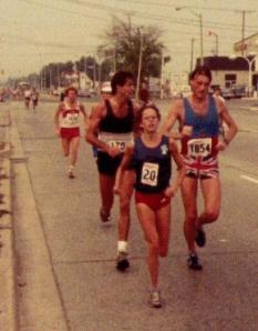 Paul, Nancy & Dave in Toronto Marathon
