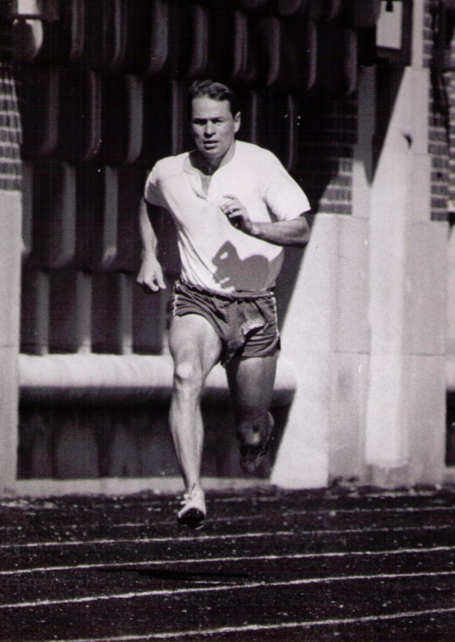 A young George Gluppe running