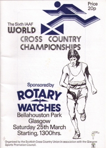 Brochure for 1978 IAAF World Cross Country in Glasgow