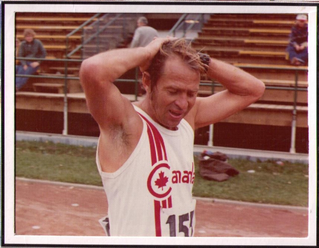 George Gluppe after 400m