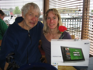 George and Nancy with tablet