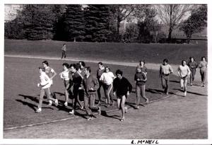 high school runners on track