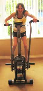 Riding an Airdyne machine