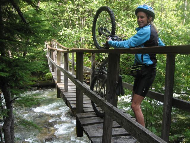 Mountain biking at Birkenhead Lake