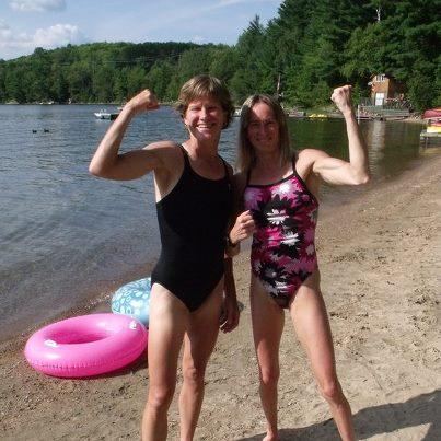 Beth and Nancy at Lake Boshkung