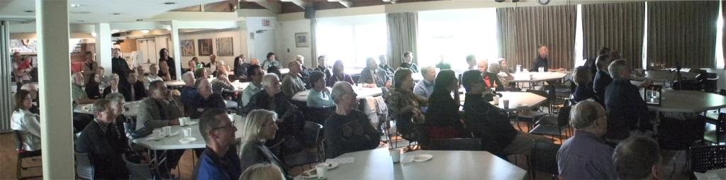 George Gluppe's Memorial audience
