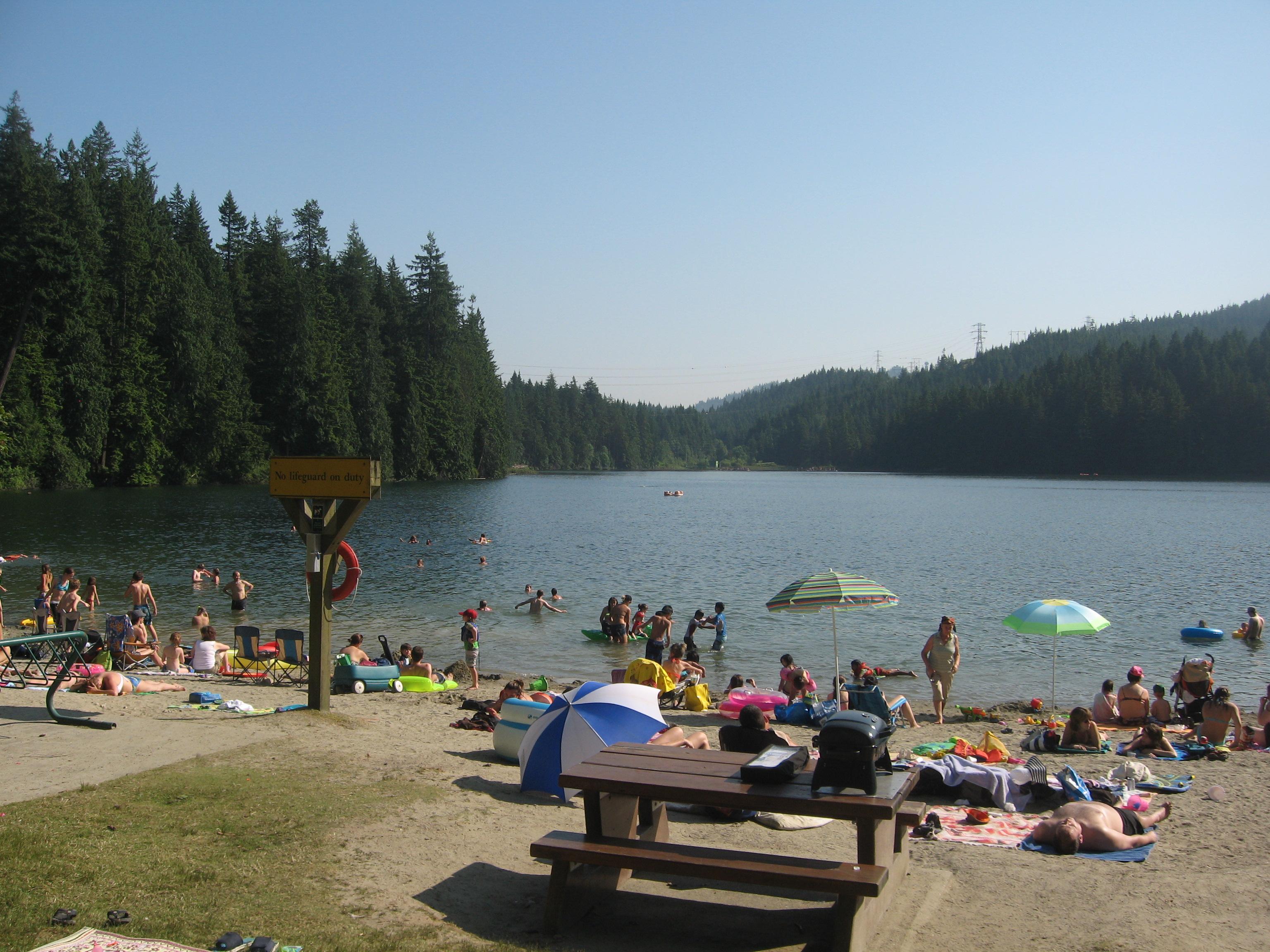 Swimming For Fun Or For Training At Sasamat Lake Olympic