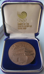 Participants' medal from 1988 Olympics