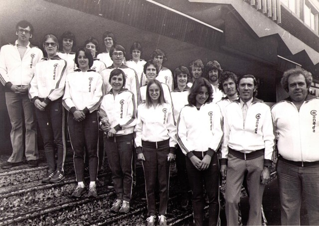 A Canadian cross-country running team in 1978.