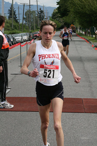 Winning the Shaughnessy 8K race