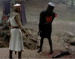 The Black Knight Fight Scene from Monty Python's Search for the Holy Grail