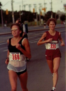 Nancy and Anne Marie Malone racing