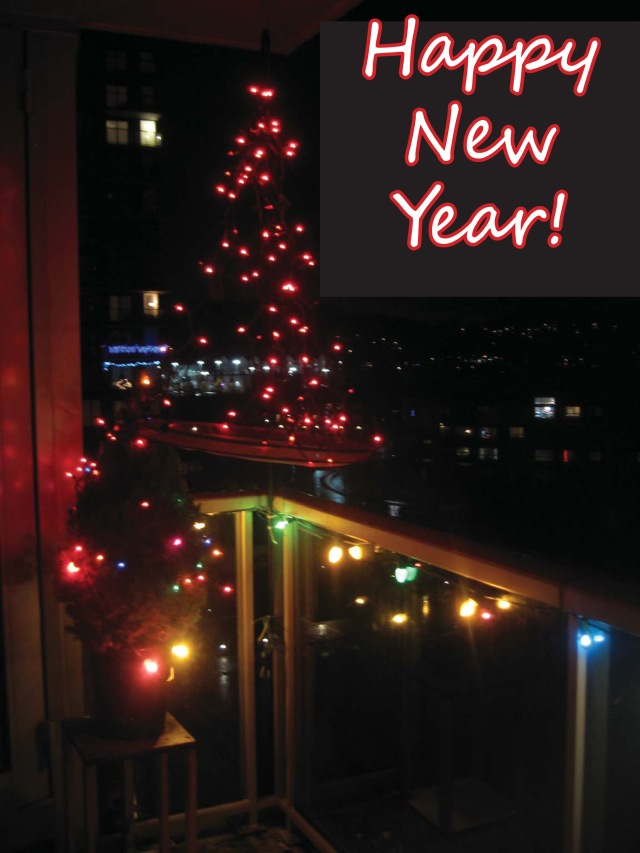 Happy New Year Balcony Lights