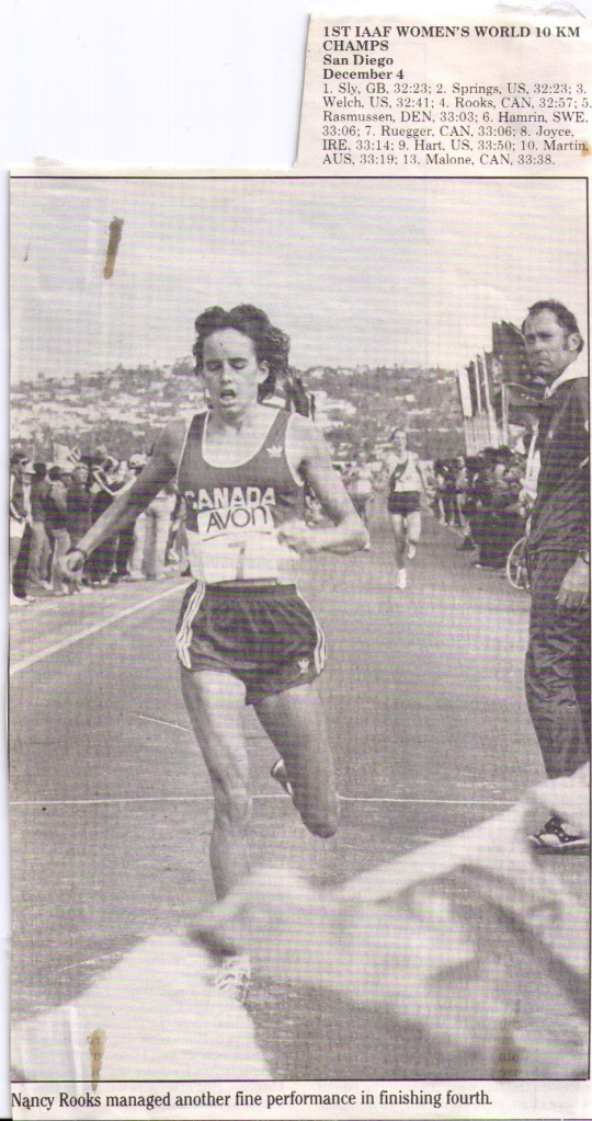 finish line of 1983 Road Race Championships in San Diego