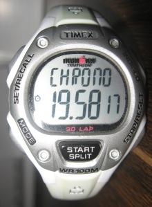 A Timex stopwatch