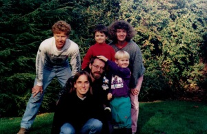 """Dave Reed became part of our """"family"""" in 1995. My brother Alan and other friends are in this photo too."""