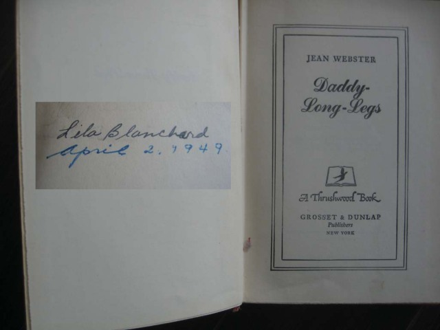 old copy of Daddy-Long-Legs by Jean Webster
