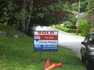 Sold sign on property.
