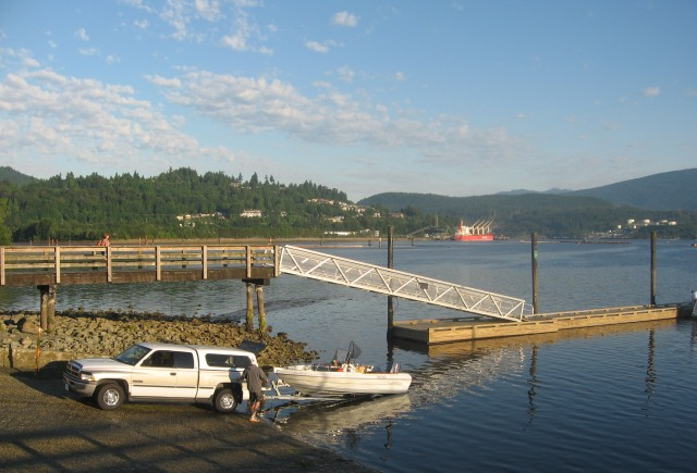 boat launch at Rocky Point Park.