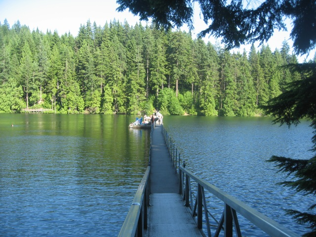 The walkway at Sasamat Lake.