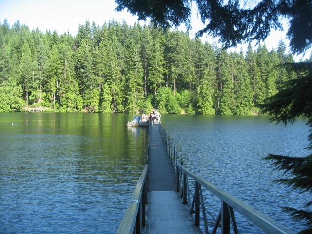 The walkway at Sasamat Lake.