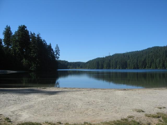 Sasamat Lake 9 a.m. in July