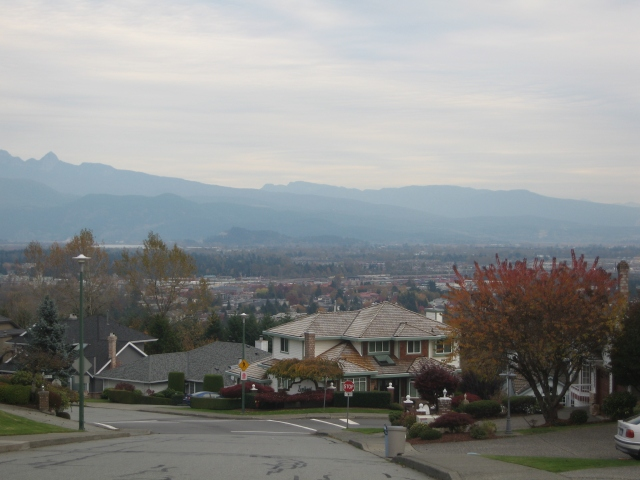 view of northeast Coquitlam from Chilco and Mariner Way.