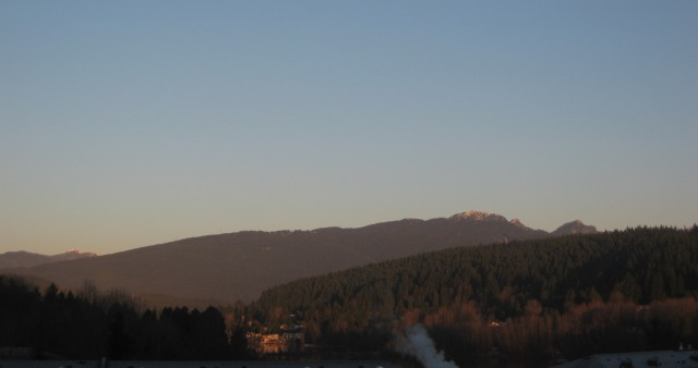 View of Burrard Inlet and Mt. Seymour