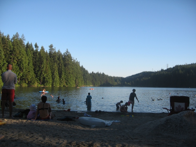 Sasamat Lake, White Pine Beach south beach