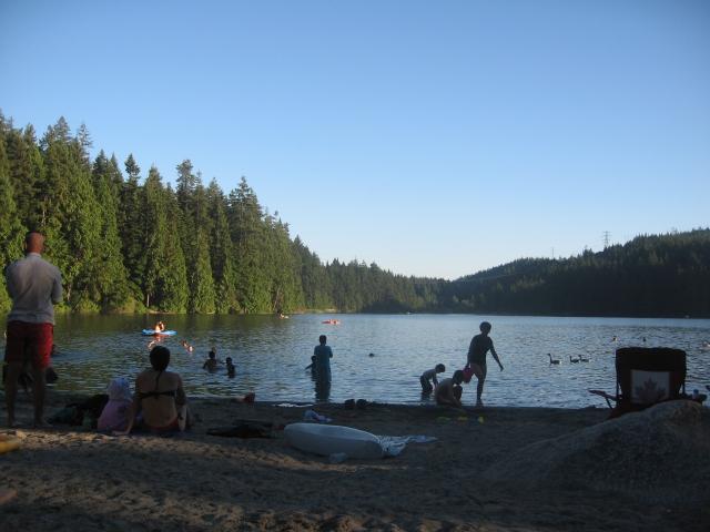 Sasamat Lake, White Pine Beach south beach