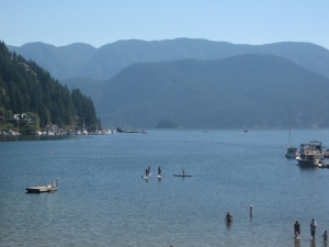 Lots of people were having fun and staying cool in Deep Cove instead of doing something crazy like running 50K!