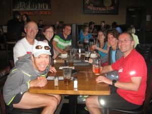 Phoenixers post-run at Original Joe's.