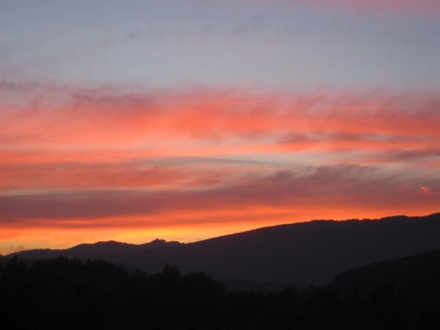 sunset over Mount Seymour