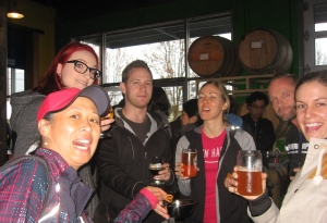 Several members of our group sampled craft beers extensively.