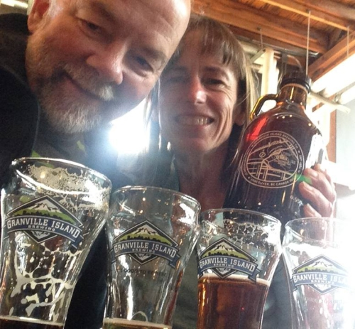 Nancy and Keith at Granville Island Brewery