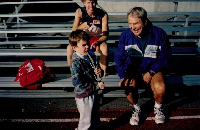 Abebe, George, and Dave Reed at Coquitlam track