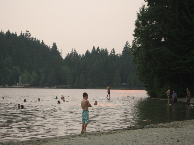 Sasamat Lake in the evening.