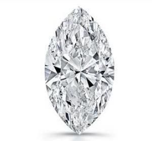 A marquise diamond