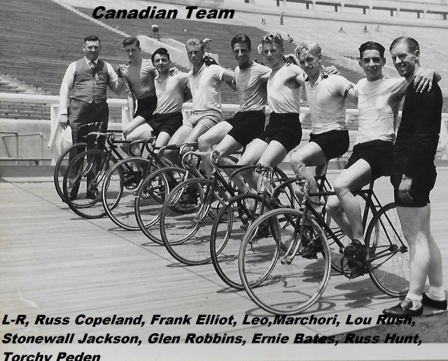 Canadian cycling team at 1932 Los Angeles Olympics